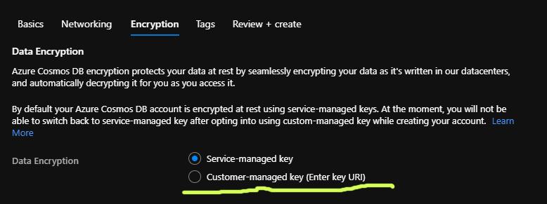 customer managed keys