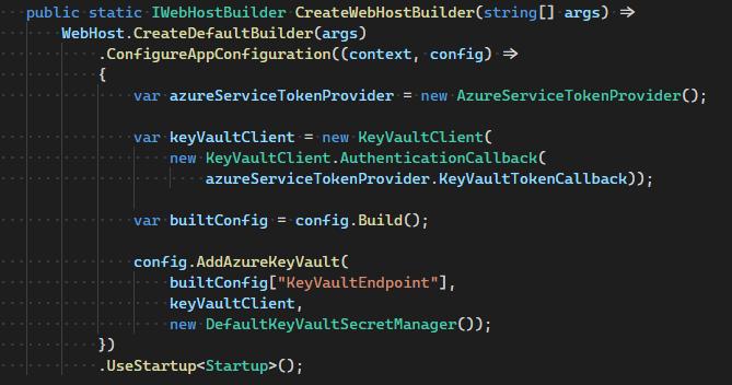 azure key vault config provider